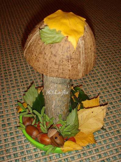 Поделка осень с грибами
